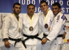 Rasul Boqiev (TJK), Iosef Palelashvili (ISR), Jonathan Allardon (FRA), Hasan Vanlioglu (TUR) - World Cup Bucharest (2011, ROU) - © IJF Media Team, International Judo Federation